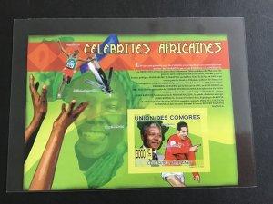 Unión Des Comores  Nelson Mandela Mint Never Hinged Imperf Stamp  Sheet R38698