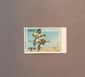 RW47, Mallard, Mint OGNH w/selvage, CV $30.00