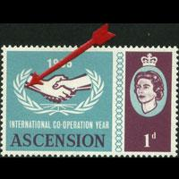 ASCENSION 1965 - Scott# 94 ICY Variety 1p NH