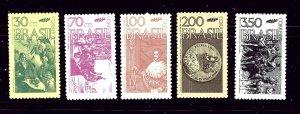 Brazil 1242-46 MH 1972 set