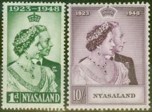 Nyasaland 1948 RSW set of 2 SG161-162 V.F MNH