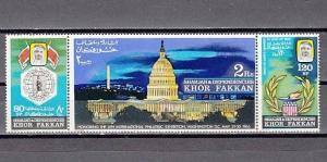 Khor Fakkan, Mi cat. 77-79. President Kennedy Memorial issue. ^