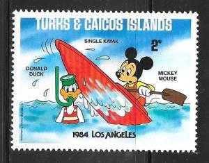 Turks and Caicos 621: 2c Donald Duck and Mickey Mouse, MH, VF