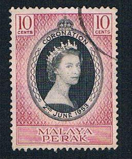 Malaya Perak 126 Used Coronation Issue (BP2227)