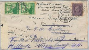 62269  -  HABANA - POSTAL HISTORY -  COVER to HOLLAND 1945 - TOBACCO Smoking