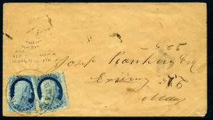 Scott 23 Franklin Used Stamps on Cover with Doporto Cert (Stock 23-15)