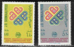 Somalia Scott 522-523 MNH** ITU stamp set