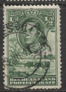 Bechuanaland - Scott 124 - KGVI - Definitive -1938 - Used - Single 1/2p Stamp