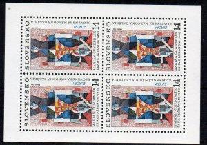 Slovakia 1993 Europa. Contemporary Art 14k sheet of 4 MNH