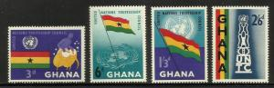 Ghana 1959 Scott# 67-70 MNH