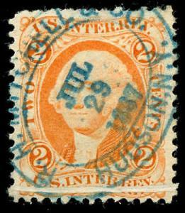 momen: US Stamps #R15c Revenue Used Handstamp Fold