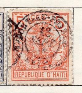 Haiti 1891 Early Issue Fine Used 5c. 100928