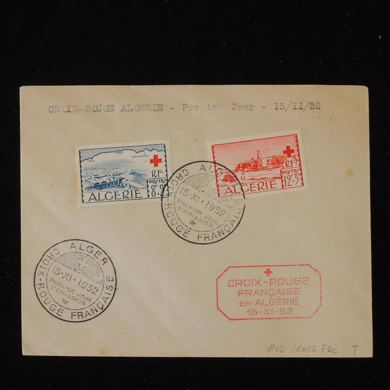 ZS-Y571 RED CROSS - Algeria Frc, Fdc, 1952, Great Franking Cover