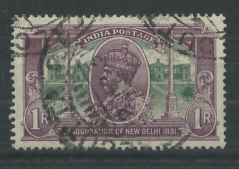 India 1931 1R New Delhi SG231a Fine Used Cat£48