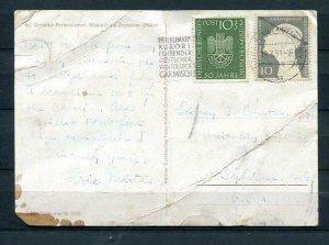 Germany 1953 Photo Postal Card to USA 7360