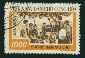Viet Nam 66,CTO.Michel 69. Anti-illiteracy campaign,1958.