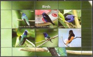 Burundi 2011 Birds (6) MNH Cinderella !