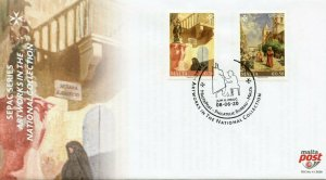 Malta Art Stamps 2020 FDC Artworks in National Collections SEPAC 2v Set
