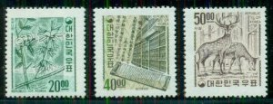 KOREA #582-4, Complete set redrawn with Republic of Korea NH, Scott $131.00