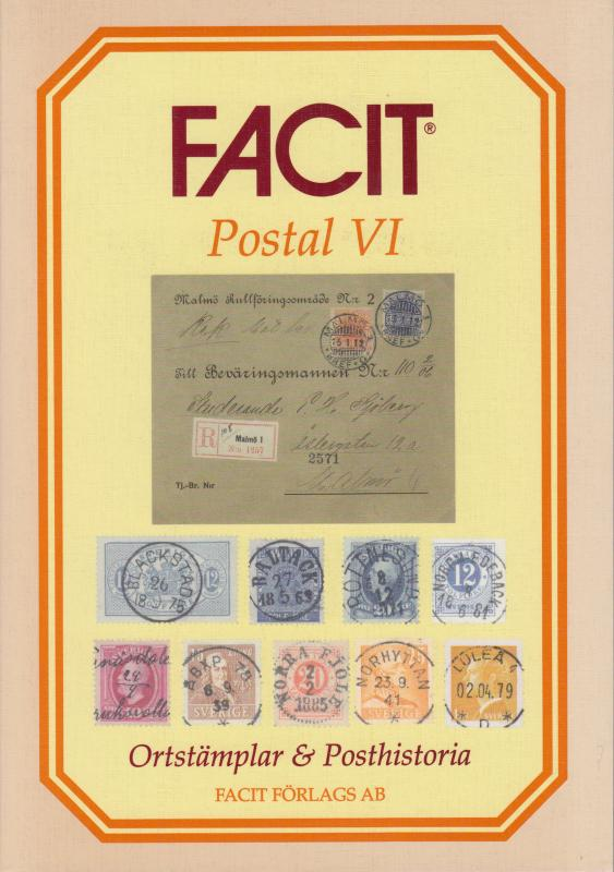 Facit, Postal VI, Postal History & Cancels of Sweden catalogue, NEW