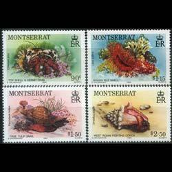 MONTSERRAT 1984 - Scott# 543-6 Marine Life Set of 4 NH