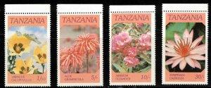 TANZANIA Scott # 315-18 MNH - Flowers
