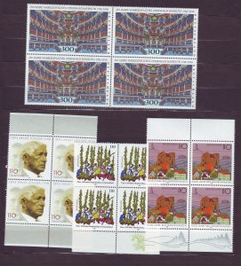 Z661 JLstamps 1998 germany sets of 1 blk,s 4 mnh #1992,2001-2,2008 all sound