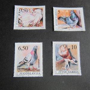 Yugoslavia 1990 Sc 2057-60 bird set MNH