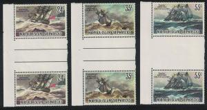 Norfolk Shipwrecks 3v Issue July 1982 SG#287=291