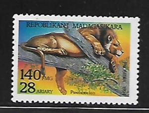 MALAGASY REPUBLIC, 1187, MINT HINGED, LION