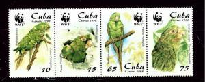 Cuba 3961-64 MNH 1998 Birds (W.W.F.)