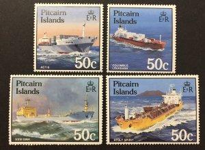 Pitcairn Islands 1985 #258-61, Ships, MNH.