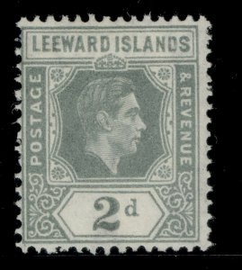 LEEWARD ISLANDS GVI SG103, 2d olive-grey, M MINT.