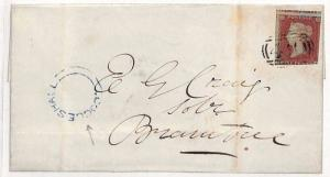 GB Cover Essex *Coggeshall* UDC Receiver Colchester 1853 {samwells-covers} MM258