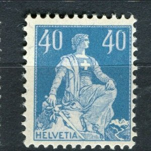 SWITZERLAND; 1908 early Sitting Helvetia type Mint hinged 40c. value