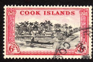 1949, Cook Islands, 6p, Used, Sc 136