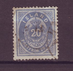 J25520 JLstamps 1882-98  iceland used #17 numeral
