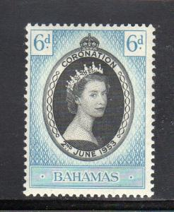 BAHAMAS #157  1953  CORONATION ISSUE  MINT  VF NH  O.G  a