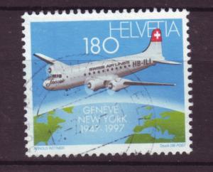 J18533 JLstamps  1997 switzerland set of 1 used #995 airplane