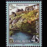 YUGOSLAVIA 2001 - Scott# 2523 Europa-Canyon 45d NH