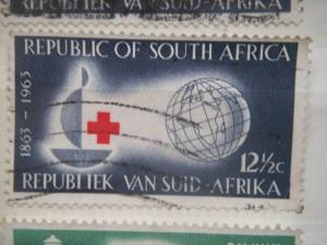 SOUTH AFRICA, 1963, used 12 1/2c, International Red Cross. Scott 286