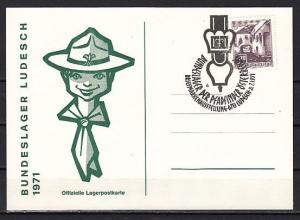 Austria, 1971 issue. 21/JUL/71. Scouts cancel on a Cachet Post Card. ^