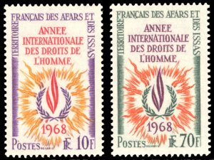 Afars and Issas 1968 Scott #322-323 Mint Never Hinged