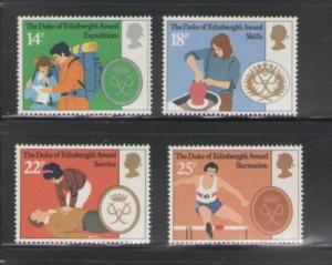 Great Britain  Sc 952-5 1981 Duke of Edinburgh Awards stamp set mint NH