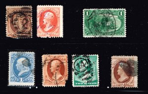 US STAMP 19TH OLD USED STAMPS  COLLECTION LOT #4