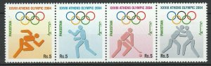 Pakistan 2004 Olympic Games - Athens 4 MNH stamps