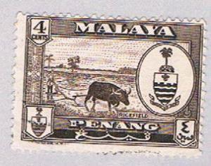Malaya Penang 58 Used State Crest (BP23125)