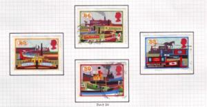 Great Britain  Sc 1506-9 1993 Canals stamps used