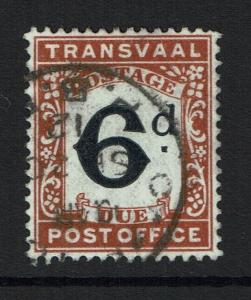 Transvaal SG# D6, Used - Lot 111516