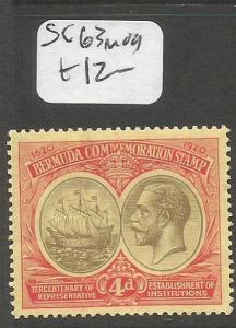 Bermuda SG 63 MOG (9cgx)